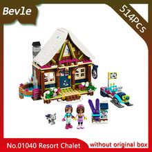 Lepin 01040 514pcs Friends Series Ski resort huts Model Building Bricks Blocks Educational Toys for Children gifts 41323(China)