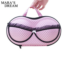 Mara's Dream Underwear Lingerie Travel Bag for Women Organizer Trip Luggage Traveling Bag Pouch Case Suitcase Space Saver Bag(China)
