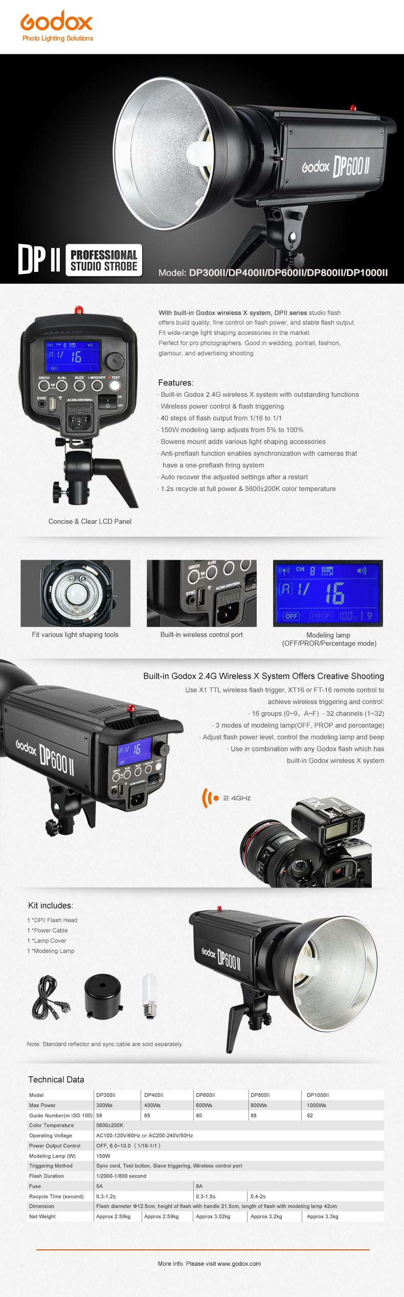 Godox Studio Flash DP600II Built-in with 2.4G X System (15)