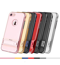 Transparent Kickstand Phone Case For iPhone 7 / 7 Plus Cases Holder Rack Stand Cover For Iphone 6 6s 6 plus Case PC+TPU Business