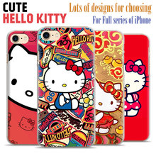 Hello Kitty Cute fashion Mobile Phone Case Cover shell bag For Apple iPhone X 8Plus 8 7Plus 7 6sPlus 6s 6Plus 6 5 5S SE 4S 4
