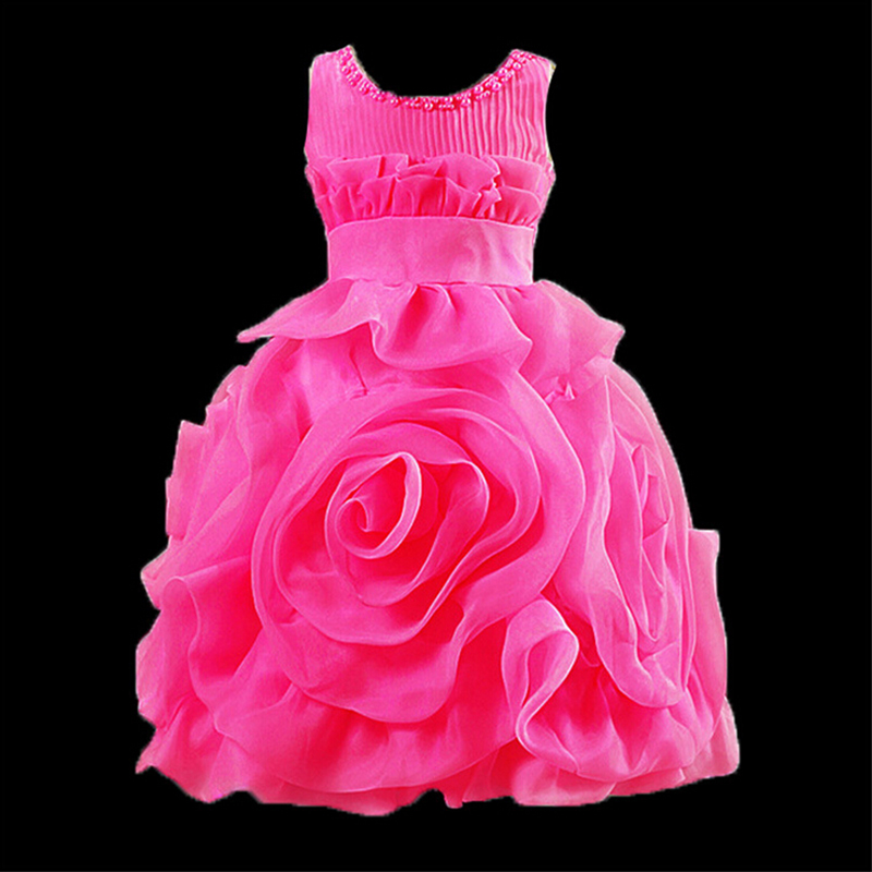 O-neck beading princess dress sleeveless baby girls pageant dresses for wedding party costume A-line large flower girl dresses<br><br>Aliexpress