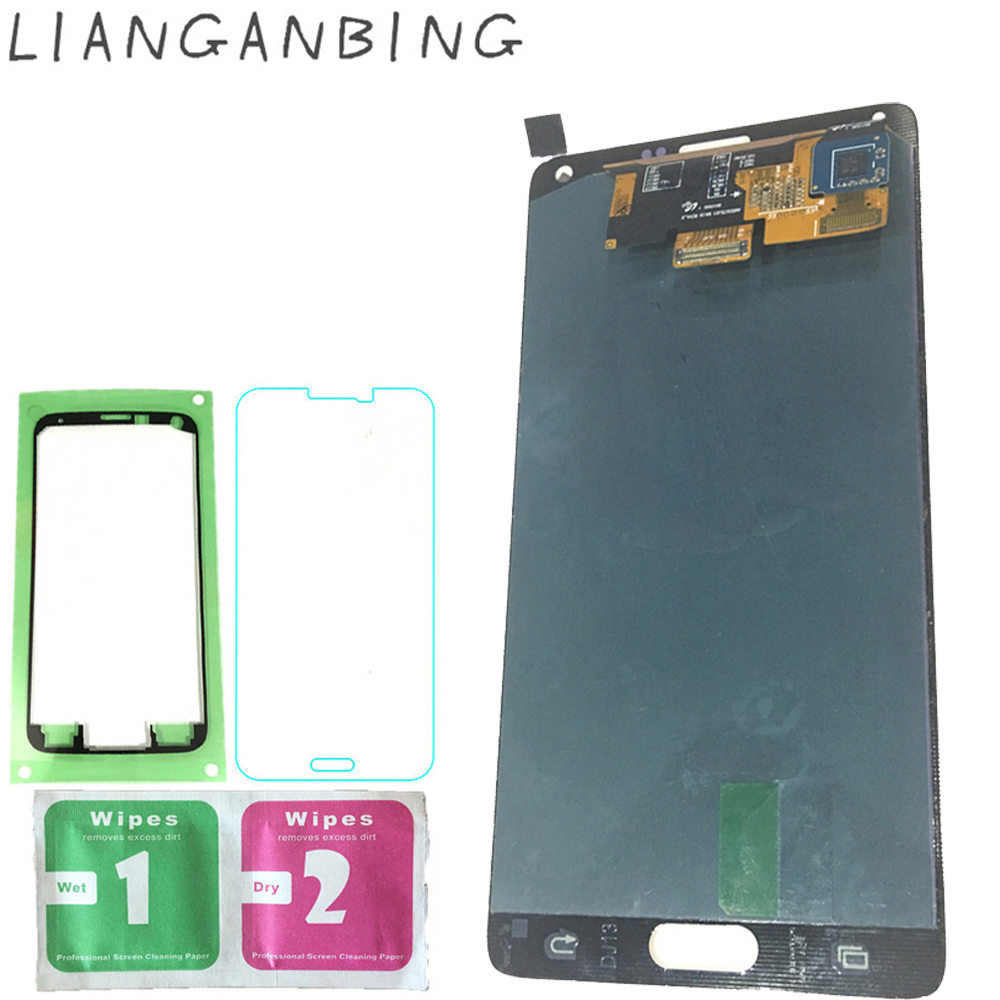 New Super AMOLED LCD N910 N910A N910F N910H Display 100% Tested Working  Touch Screen Assembly For Samsung Galaxy Note 4