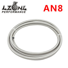 LZONE RACING - AN8 Double braided Stainless steel teflon fuel Racing Hose Fuel Oil Line AN8(ID:10MM,OD:15MM) JR7513