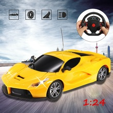 1:24 1003-9 yellow rechargeable battery Diecast Drift Speed Radio Remote Control RC Racing Car Truck Toy Gift with adapter(China)
