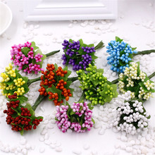1Artificial Flowers Mulberry Stamen Wedding Supplies Beads Flower Diy Handmade Scrapbooking Decoration Craft - World & wedding Store store