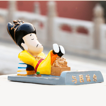China Forbidden City Souvenir Original Ming Dynasty Emperor Anime Action Figure Mini Resin Doll Mobile Phone Holder Support Gift