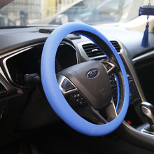 Hot selling high quality custom silicone material car accessories steering wheel cover