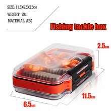 11.5*6.5*2.5 Plastic Fish Tackle Box Waterproof Fly Fishing Double Side Clear Slit Foam fly Fishing Box Useful