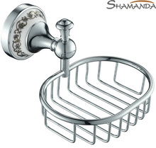 Sale Rushed Free Shipping Bathroom Accessories Products Solid Brass&zinc Chrome Soap Basket,soap Dish Holder,soap Box-51008(China)