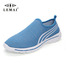 LEMAI 2017 brand mesh breathable Summer women Flats, casual ultralight flats New zapatillas trainers shoes size 36-40