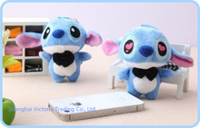 Kawaii BIG Lover Lilo Stitch Plush Stuffed TOY DOLL ; 11*7CM Mobile Cell Phone Strap ; Keychain & BAG Pendant