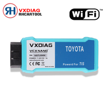 Car Styling Professional WiFi Version VXDIAG VCX NANO for TOYOTA TIS Techstream V10.10.018 Compatible with SAE J2534 Free Ship
