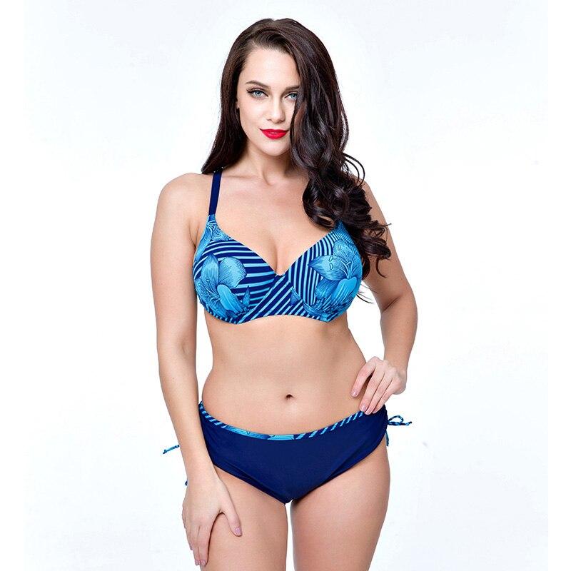 4XL-8XL plus size swimwear Push up bikini Female swimsuit Swimwear women bikini 2016 bikini set Large Size Swimwear bathing suit<br><br>Aliexpress