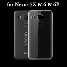 UltraThin Rubber silicon Soft Transparent TPU Coque back case cover for LG google nexus 5 5X huawei nexus 6P 6 cellphone caso