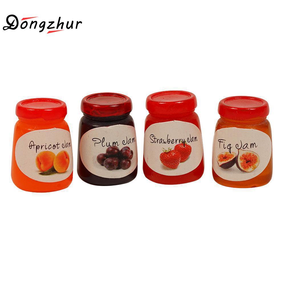 Dollhouse Miniature Jar of Strawberry Jam