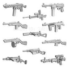 10pcs/set Pog Weapon Gun Second World War DIY Super Heroes Building Blocks Sets Model Bricks Toys for Children Compatible Pogo(China)