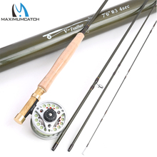 Maximumcatch 1/2/3 WT Fly Fishing Combo Carbon Fiber Fly Fishing Rod & Reel Fly Fishing Outfit