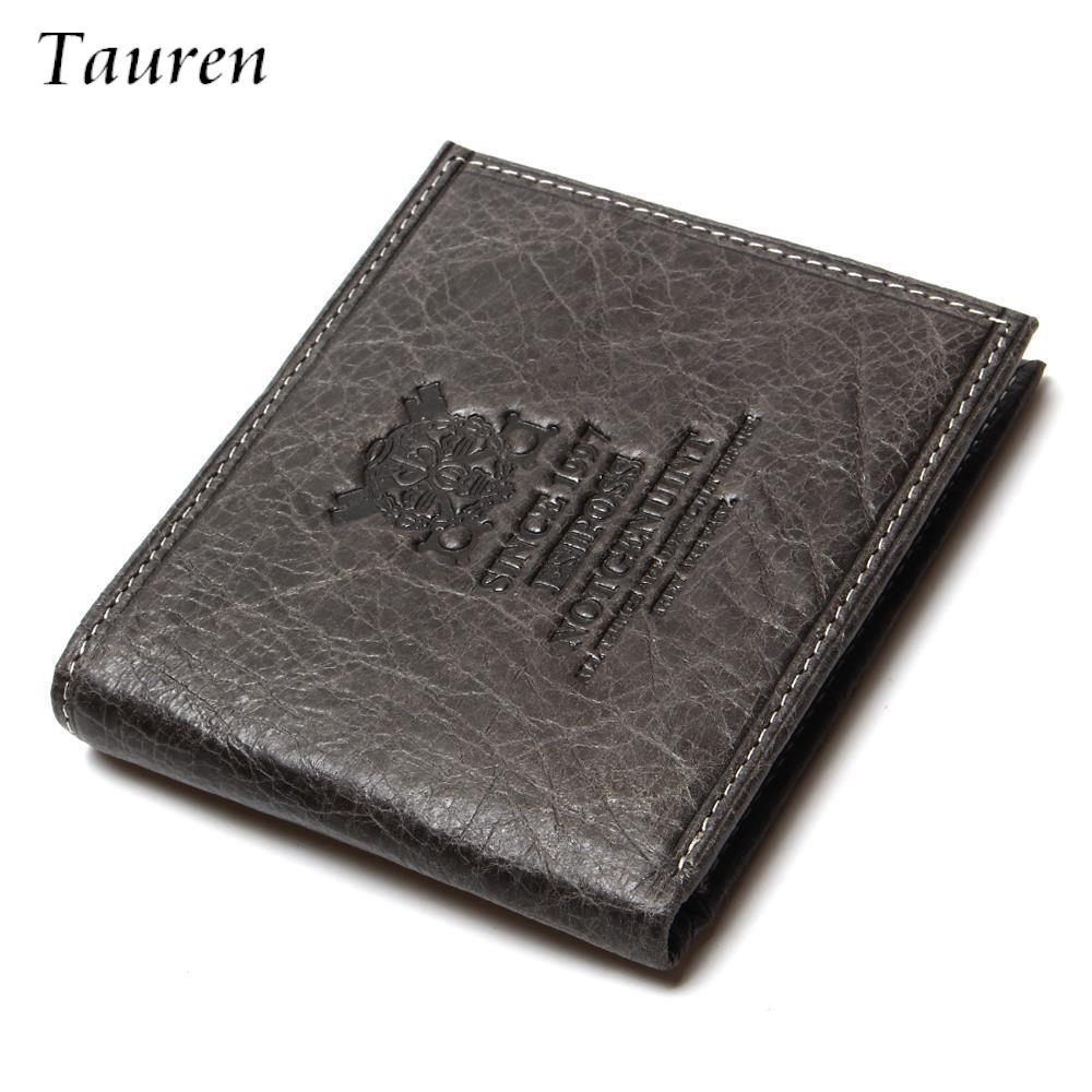Men Wallets Brown Coffee Real Genuine Cowhide Leather Bifold Wallet Men Purses Male Credit Cards Coin Pocket Carteira Masculina<br><br>Aliexpress