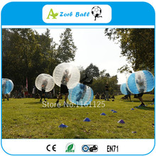 2pcs red and blue 1.0m Inflatable ball suit,Soccer bubble,TPU bubble soccer for free shipping