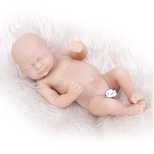 Mini Vinyl Silicone Reborn Baby Doll Kit Full Limb Doll Accessories,DIY Reborn Doll Kit Lifelike Real Touch Unpainted
