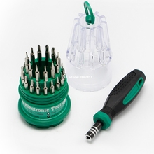 Precision Handle Screwdriver Set Magnetic Mobile Phone Repair Kit Tools 31 in 1 (T4 Torx)(China)