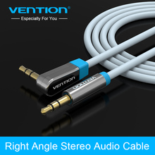 "Vention Jack 3.5mm Aux Cable male to male ""L"" Stereo Audio Cable 1m/1.5m for Car MP3 CD Player smart phone iPod Tablet TV"
