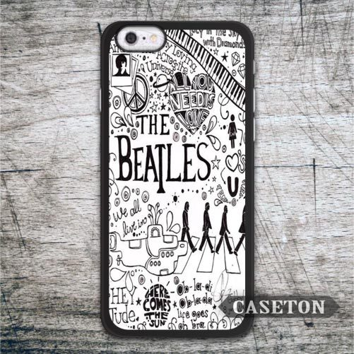 The Beatles Lyric Quote font b Case b font For font b iPhone b font 7