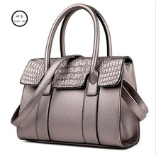 Women handbag big ladies lady bag made PU leather Female Shoulder travel messenger designer high quality Crocodile pattern bags
