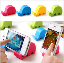 Fashion Mini Cute Elephant Stand Holder for Chopstick for Mobile Phone Mp3 for Mp4(China)