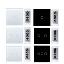 EU Standard Waterproof Touch Switch Wall Light Switch Remote control Control Light Switch Touch Button 1/2/3 Gang 170V~240V