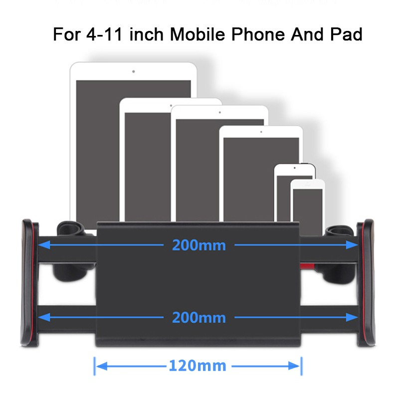 Car Phone Holder Back Seat Tablet Bracket 4-11 Inch 360 Degree Car Holders For iPhone X 8 iPad 2 3 4 Mini Mi Pad 2 3 Mediapad (11)