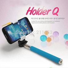 Best Handheld Monopod Z07-1 + Holder Q Mobile Phone Clip Mount 20-140mm Extendable Universal for iPhone Samsung iPad Tablet PC(China)