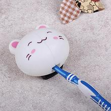 2pcs Good Quality Cute Cartoon Rabbit Panda Pig Sucker Plastic Toothbrush Holder Delicate Suction Accessories(China)