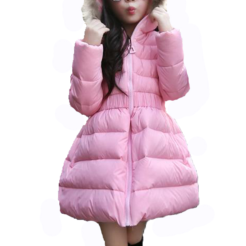 11.11 Winter Jackets For Girls New Fashion Candy Color Solid Girls Parka Coats Thick White Goose Warm Girls Long Down Coat Одежда и ак�е��уары<br><br><br>Aliexpress