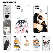 for Asus Zenfone 3 Zoom ZE553KL Case,Silicon Look cat Painting Soft TPU Back Cover for Asus ZE553KL Phone Protect bags shell(China)