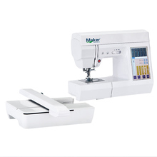 "MK7500 portable electric small computerized sewing and embroidery machine AC100-240V 7"" LCD touch screen updated free shipping(China)"