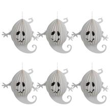 6 Pcs Halloween Paper Lanterns Three-dimensional Halloween Spooky Small Ghost Decoration(China)
