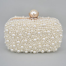 Evening Bags Women Clutch Bags Evening Clutch Bags Wedding Bridal Handbag Pearl Beaded Lace double sides Bead Bags Z08