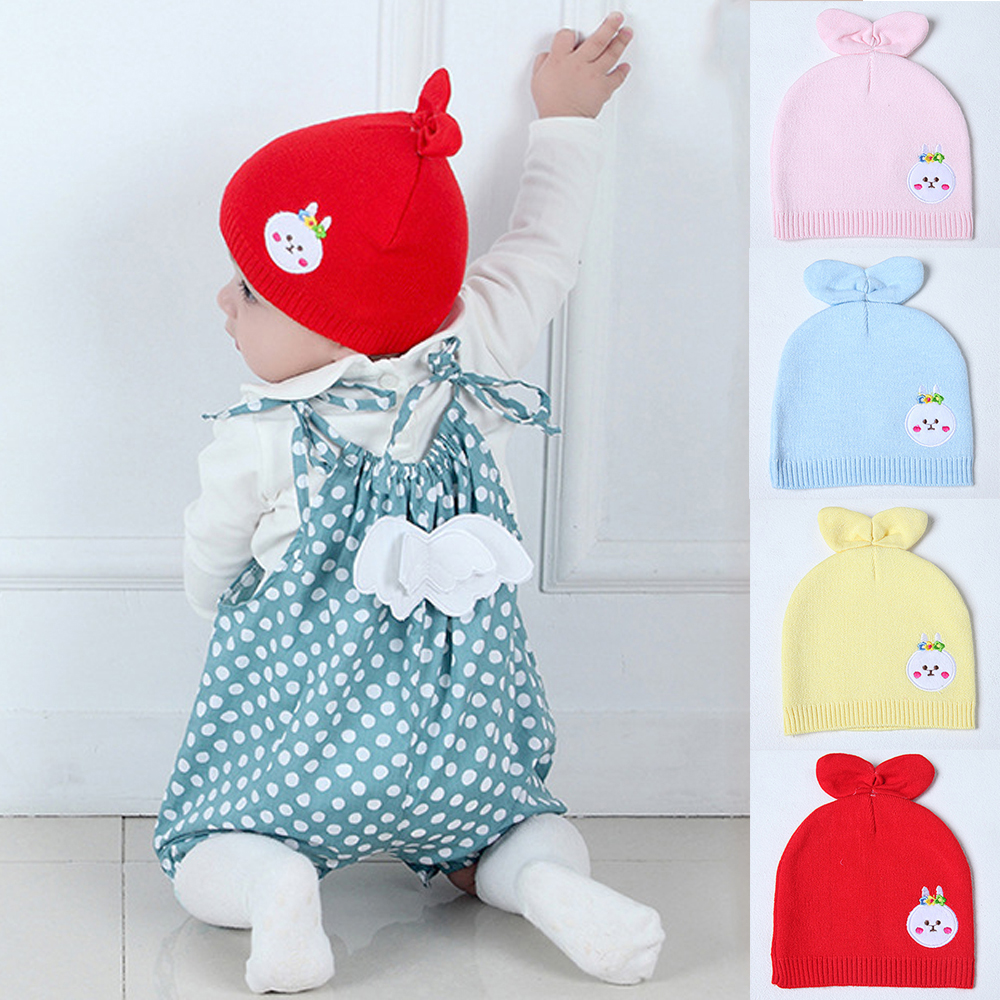 Pudcoco New Kid Baby Soft Cotton Hat Cap Warm Knitted Crochet Baby ... 4fde62a9cc6f