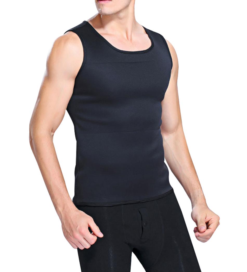 Hot Shapers Slimming T-shirt Neoprene Shaper Vest Men Slimming Body Shaper Corset Waist Trainer Belt Super Stretch Shapewear 2