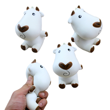 1 PCS Jumbo Cartoon Milk Cow Doll Squishy Slow Rising Bag Cell Phone Straps Charms Keychain Pendant Funny Kid Toy Gift P15
