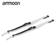 High Quality One Pair Adjustable Soft Accordion Shoulder Straps Black + White Leather(China)