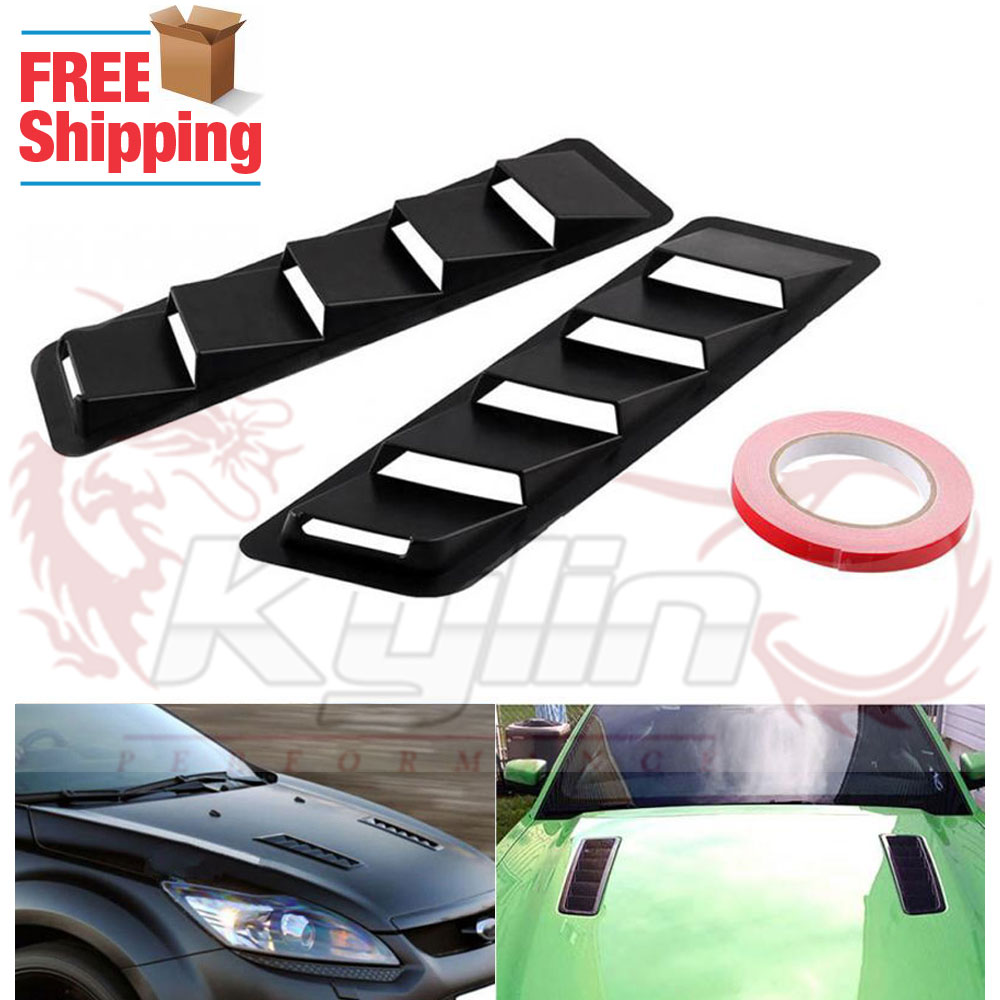 Bonnet Hood Engine Vent Grille Grill Louvered Scoop Cover Kit For Toyota Scion