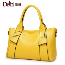 DELIN 2017 new foreign trade fashion handbag factory pin embossed Handbag Bag Handbag Shoulder Bag for a cross on behalf of