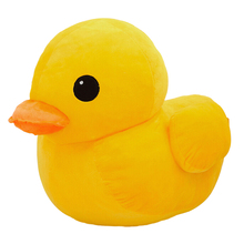 12''30CM New Arrival Stuffed Dolls Rubber Duck Hongkong Big Yellow Duck Plush Toys Best Gift for Kids Girls Christmas Gifts(China)