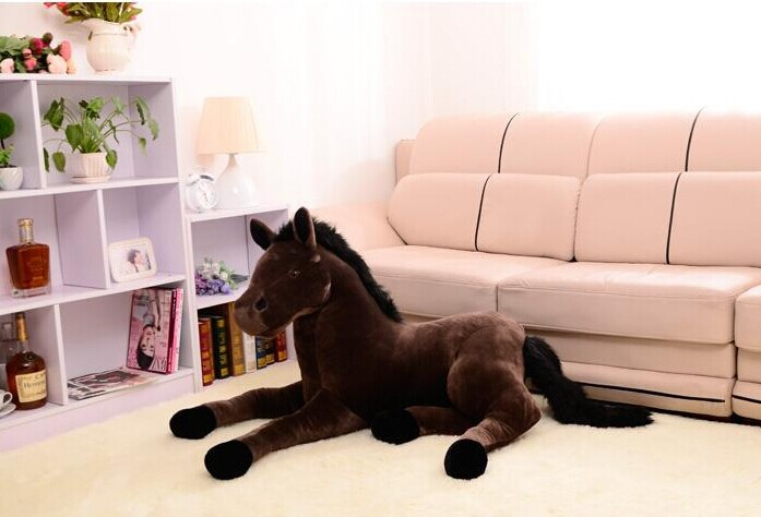 stuffed animal prone horse plush toy about 70x40cm simulation horse doll, Christmas gift w2242<br>