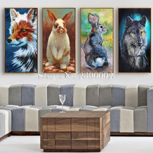 Colorful Illustrations Of Animals Diamond Embroidery Needlework DIY Diamond Painting Cross Stitch Full Rhinestones Home Decor