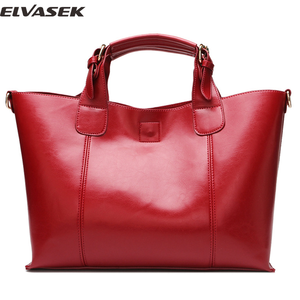Elvasek 2017 women handbags genuine leather handbag women messenger bags single shoulder bag large capacity totes bolsas A111<br>