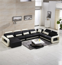 modern sectional sofa with genuine leather